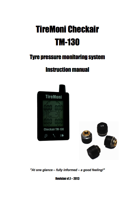 TireMoni TM-130 Manual English