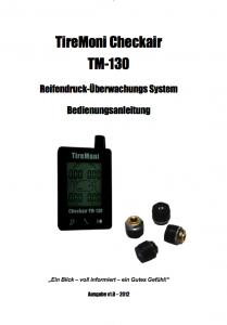TireMoni TM-130 Handbuch Deutsch Titelseite