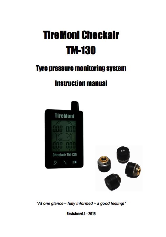 TireMoni TM-130 Manual Italiano